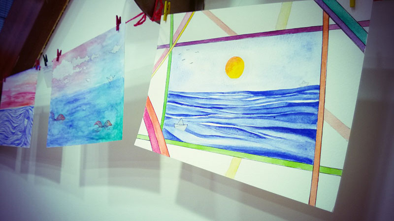 My (Temporary) watercolor exhibition…last days!