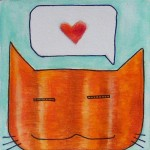 cat in love