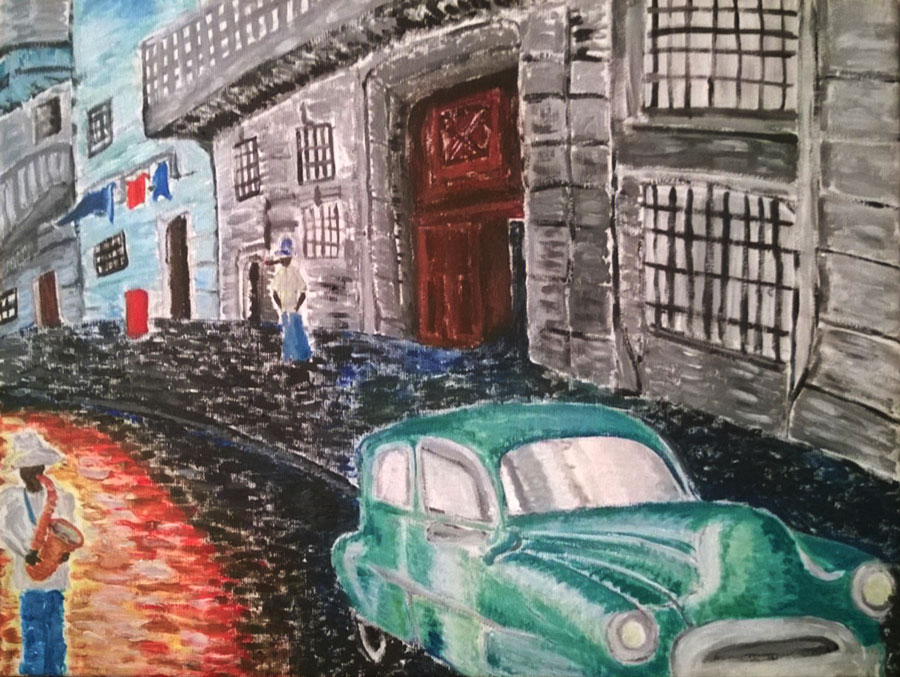 havana street, acrilico torino, acrilico havana, colori havana, musica havana colori